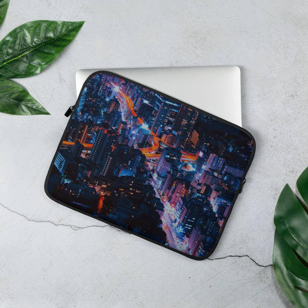 City Buzz Laptop Sleeve - The Hummingbird Effect