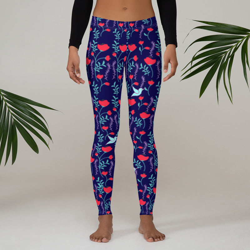 Hummingbird Leggings - The Hummingbird Effect