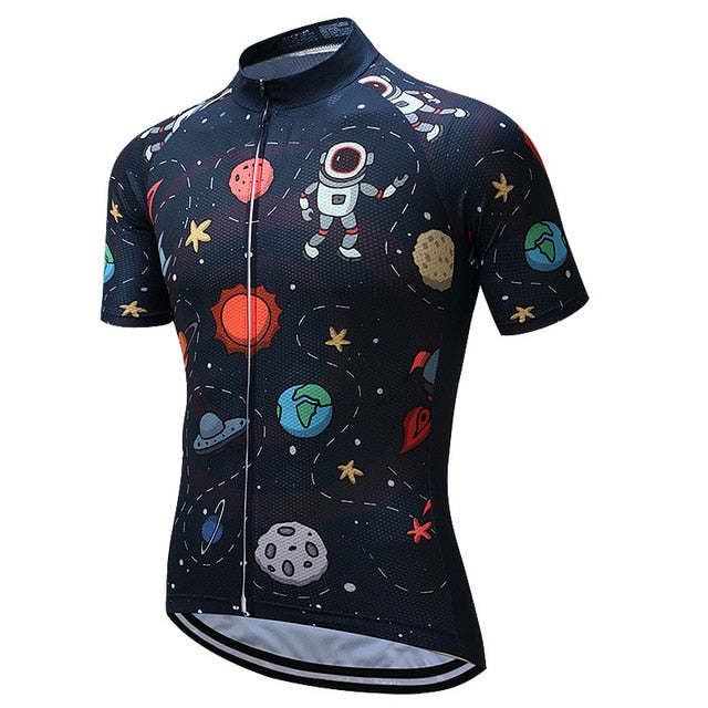 Men Cycling Galaxy Top - The Hummingbird Effect