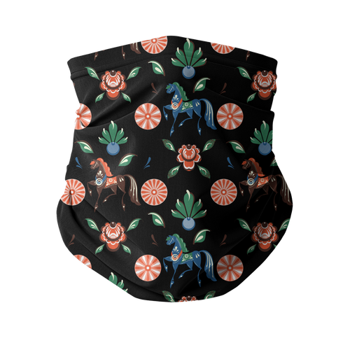 Floral design 1 Neck Warmer and Face Cover