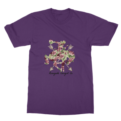 Floral Cowgirl Boyfriend Fit T-Shirt-Apparel-Renegade Cowgirl