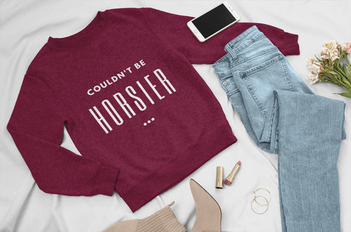Couldn't be horsier! Boyfriend fit sweatshirt.