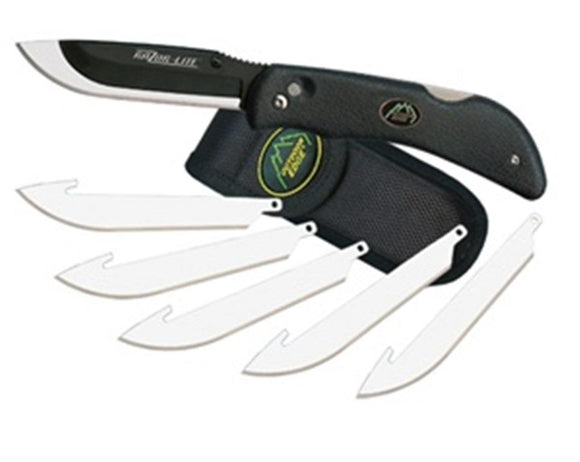 Outdoor Edge Razor-Lite Black Hunting Knife With Sheath And 6 Replacement Blades