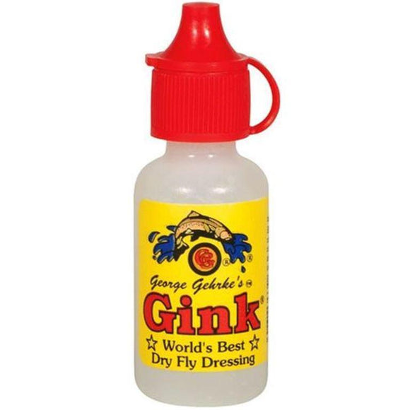 George Gehrke's Gink Floatant Dry Fly Fishing Dressing 1/2 Ounce Bottle