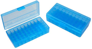 MTM Case-Gard Flip Top Ammunition Box P50-45 Blue