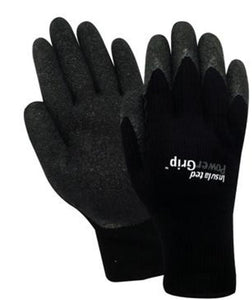 Red Steer Black Insulated Power Grips Gloves Rubber Palm Hunting Fishing Work