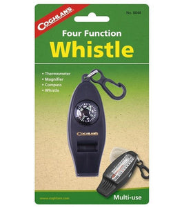 Coghlan's Four Function Emergency Safety Whistle Thermometer Magnifier Compass
