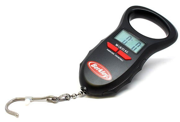 Berkley Digital Hanging Fishing Scale 50lb Capacity Lbs/Oz/Kg Auto-Save Memory
