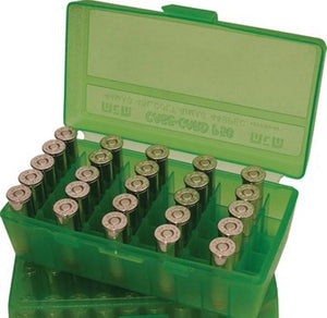 MTM Case-Gard Flip Top Ammunition Box P50-45 Green