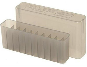 MTM Case-Gard Slip Top Ammunition Box J-20-M Clear Smoke