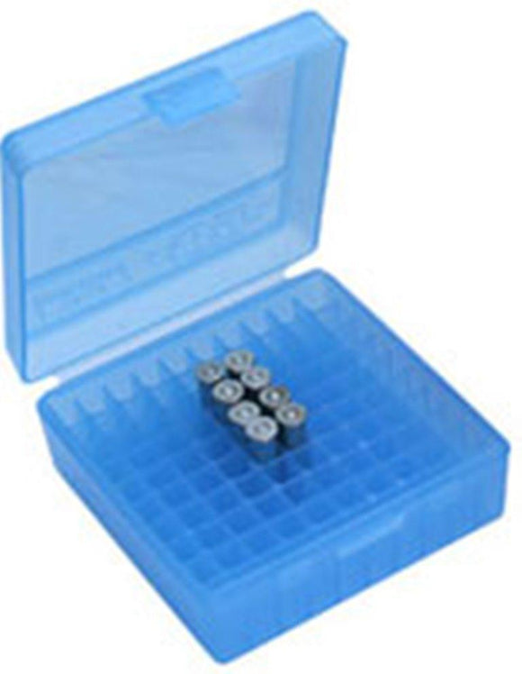 MTM Case-Gard Ammunition Box  P-100-44-24 Clear Blue