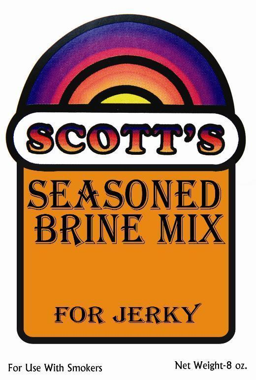 8 Ounce Package Scott's Brine Mix for Fish Jerky Garlic For Up To 12 lbs Of Meat