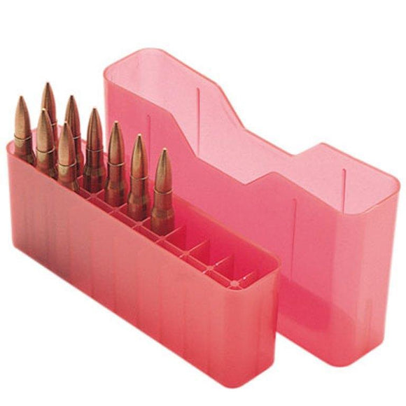 MTM Case-Gard Slip Top Rifle Ammunition Box J-20-M Red
