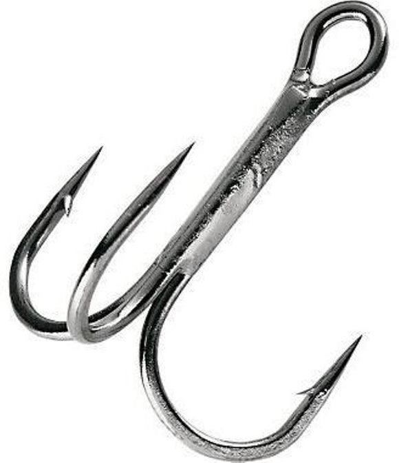 Gamakatsu Nickel Round Bend Treble Hooks Size 2/0