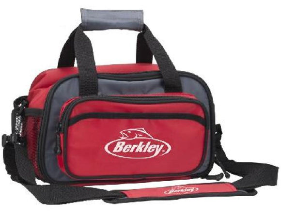 Berkley Red Soft Sided Fishing Tackle Box Bag With 2 Storage Boxes