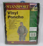 Stansport Compact Vinyl Poncho With Hood OD Olive Green