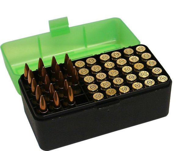 MTM Case-Gard Rifle Ammunition Box RM-50 Green/Black