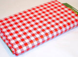 "Coghlans Red White Checked Gingham Vinyl Tablecloth 54"" X 72"""