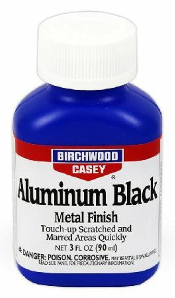 Birchwood Casey Liquid Aluminum Black Metal Finish 3 Oz Bottle