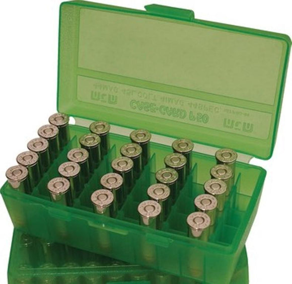 MTM Case-Gard Flip Top Ammunition Box P50-38 Green
