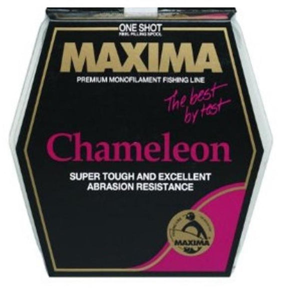 Maxima One Shot Fishing Line Spool Chameleon Choice:  4, 6, or 8 Lb Test