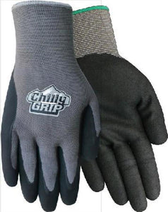 Red Steer H2O Water Resistant Gray Chilly Grips Gloves L/XL