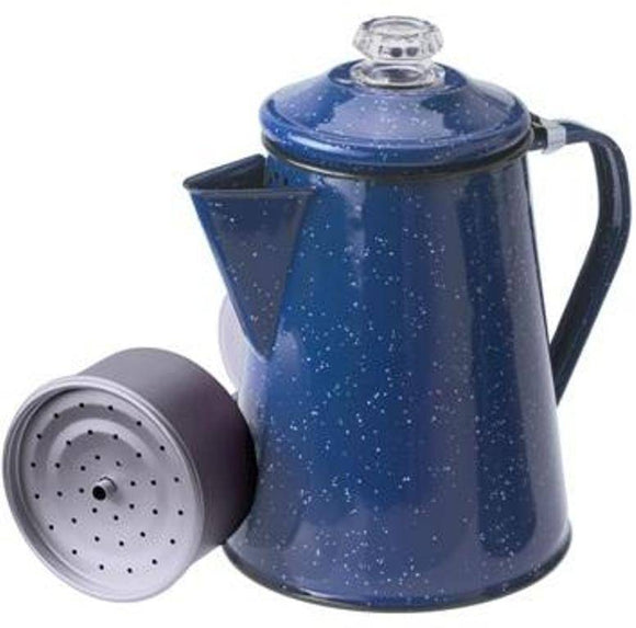 GSI Blue Enamelware 8 Cup Percolator Coffee Pot