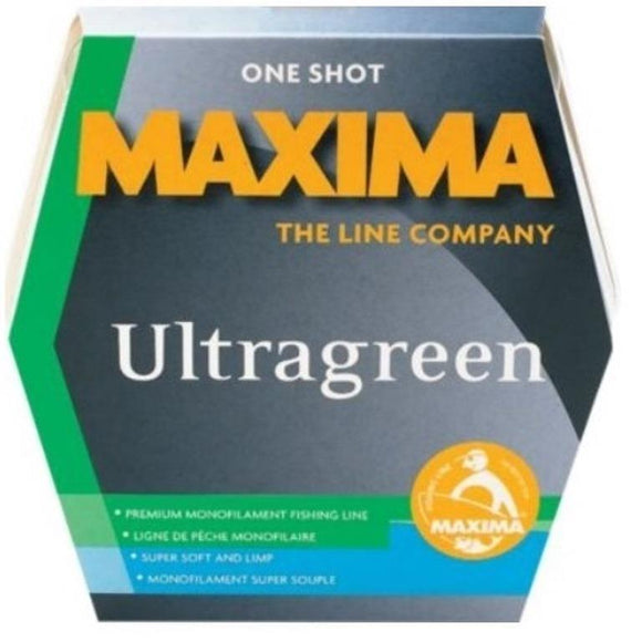 Maxima One Shot Fishing Line Ultragreen Choice: 4, 6, or 8 Lb Test