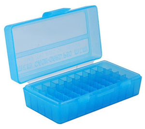 MTM Case-Gard Flip Top Ammunition Box P50-38 Blue