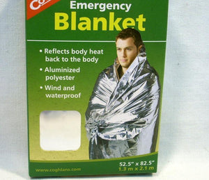 "Coghlan's Compact 1.5 Ounce Emergency Blanket 52"" x 82"""