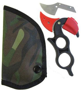 Wyoming Original Knife w/Camo Case and Extra Blade