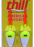 "Package of 2 Lindy Little Joe Thill Balsa Spring Fishing Floats Bobbers 1"" Oval"