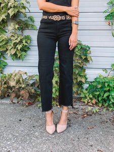 Havana Raw Hem Cropped Pants