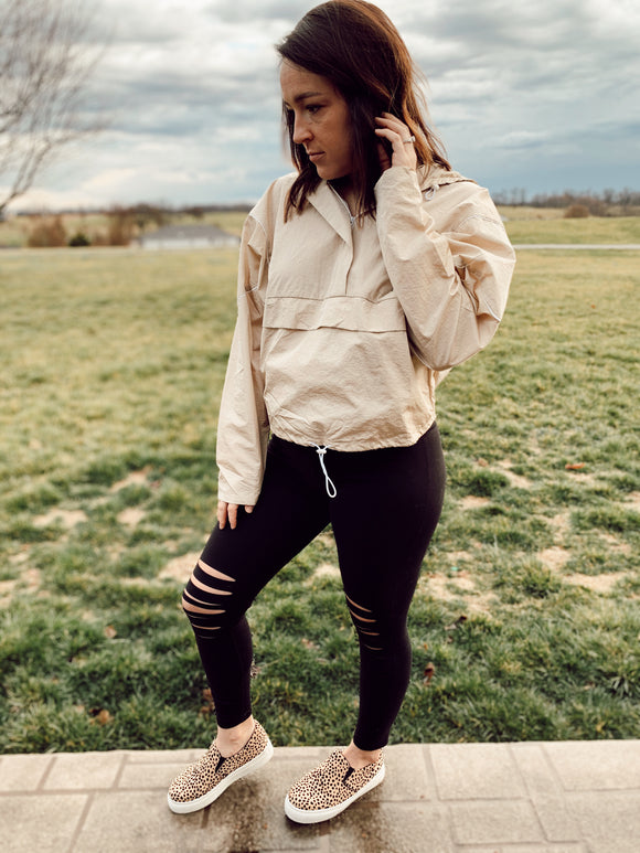 Luxe Ripped Knee Leggings