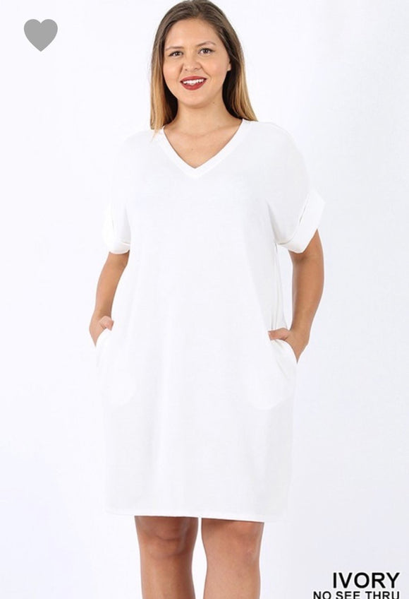 Curvy Evie T-Shirt Dress