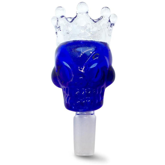 14mm Male Blue Skull Crown Herb Holder