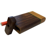"4"" Swivel Cap Wooden Dugout - Green Stripe"
