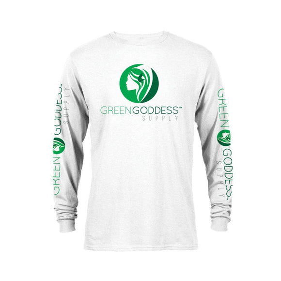 Long Sleeve White Logo Tee