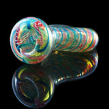 Latticino Cane Fumed Flat Belly Chillum | The Chillum of The Gods