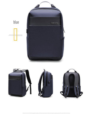 Frederick Travel Backpack with USB Charging Port