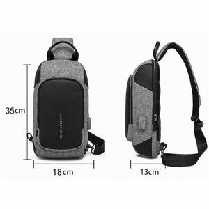 Boris Crossbody Bag with USB Charging Port