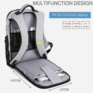 Robert (Anti-Theft Backpack with USB Charging Port)