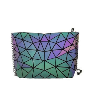 Ruby Geometric Luminous Chain Tote Bag