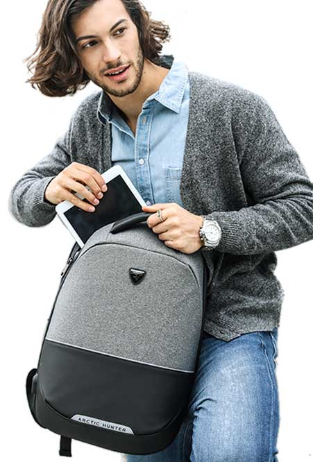 William Anti-Theft Slim Type Backpack with USB Charging Port