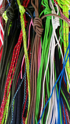 ASSORTMENT PACK OF TYPE III, TYPE I AND TACTICAL CORD 20 COLOURS X 10 FEET EACH