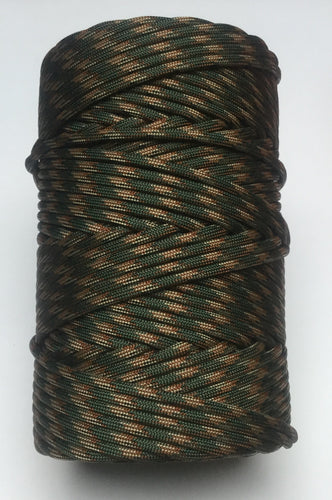 WOODLAND CAMO AMERICAN 550 PARACORD 300 FEET ROLL