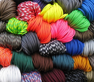 WILD ELK 550 PARACORD ASSORTMENT PACK 10 COLOURS  x 10 FEET EACH