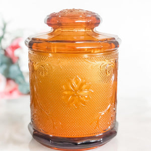 Soy Candles Handmade in Vintage Amber Canister - RetroWix