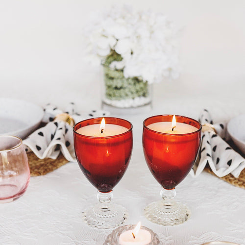 Handmade Soy Candles in Vintage Glassware - RetroWix