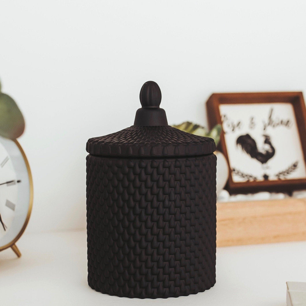 Vintage Inspired Soy Candle - Black - RetroWix